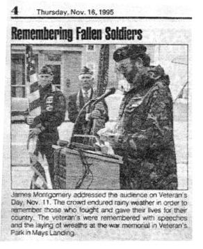 James Montgomery Veterans Day 1995