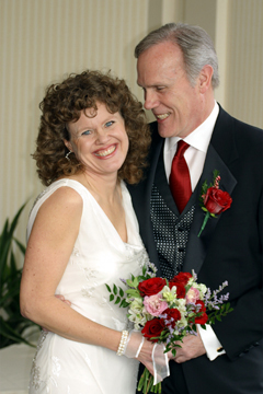 Donna Andersen and Terry Kelly on their wedding day.