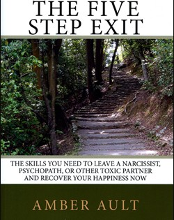 In honor of her murdered cousin, Dr. Amber Ault offers a deal on 'The Five Step Exit' book