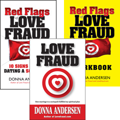 Anniversary Sale on all 3 printed Lovefraud books — save 57%!