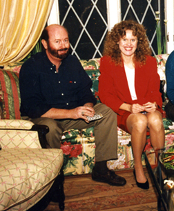 James Montgomery and Donna Andersen at Christmas 1996.