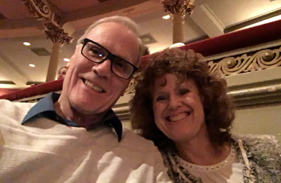Terry Kelly and Donna Andersen at the theater.