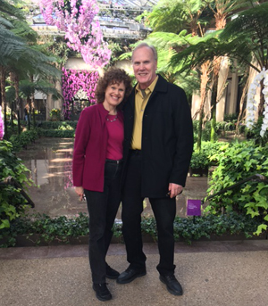 Donna Andersen and Terry Kelly at Longwood Gardens in February, 2017.