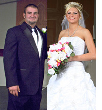 Jarrett Weaver and Kelsi Miller on their wedding day.