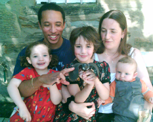 Will Jordan, Mary Turner Thomson, and children.