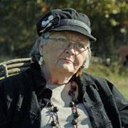 Joyce Alexander at farm