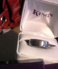 Kim King bought a wedding band for Tom Guida. She still has it.