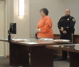 Loretta Doyle Burroughs, charged with murdering her husband, was in court this week. (Photo by Donna Andersen.)