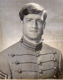"Herbert ""Roger"" Mills in his 1973 senior portrait from West Point."