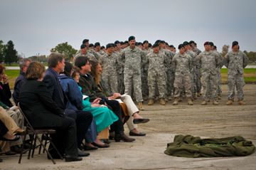 The Ohio National Guard held a ceremony to honor CW Mills. (Photos by Staff Sgt. Randall P. Carey)
