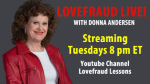 Lovefraud Live! with Donna Andersen