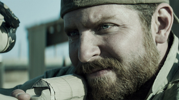 "Bradley Cooper as Chris Kyle in ""American Sniper."""