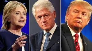 Hillary Clinton, Bill Clinton, Donald Trump.