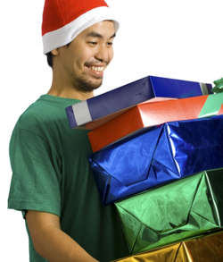 guy with gifts 250x293