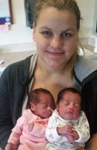 Megan Hiatt and twins