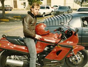 Patrick Alexander on motorcycle