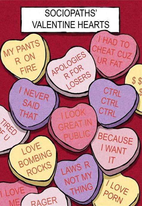 Sociopath candy hearts